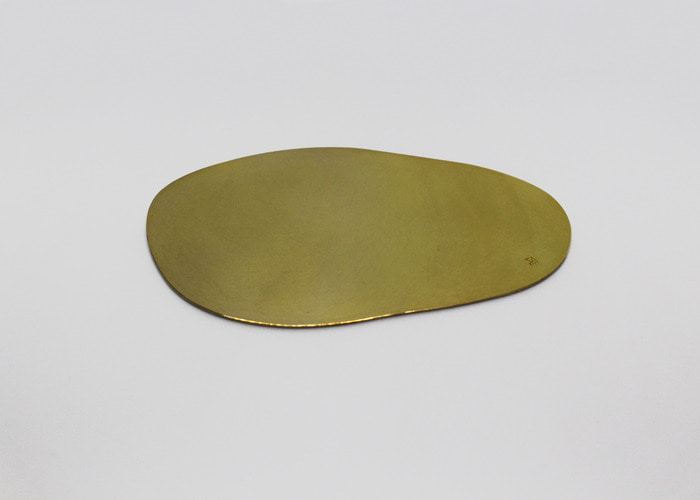 ABSTRACT FLAT COASTER 2. BRASS